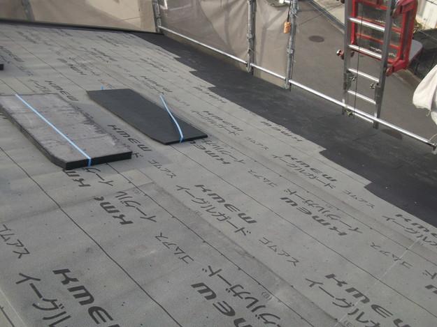新しいカラーベスト屋根材敷設リフォーム完了までDSCF2574
