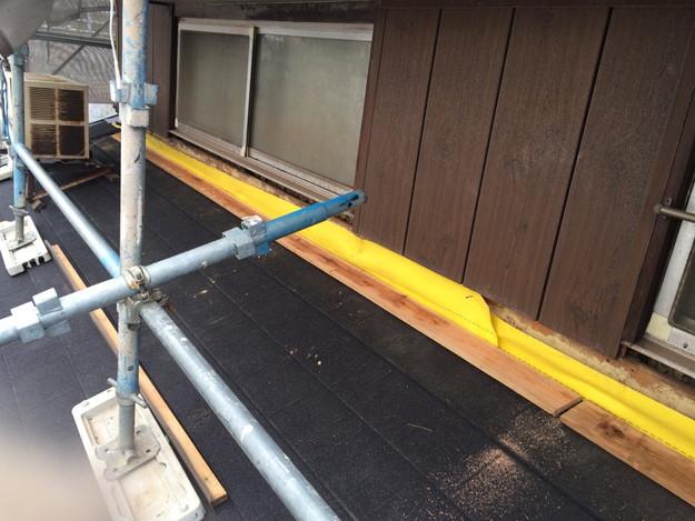 新設屋根材敷設作業1449324596136
