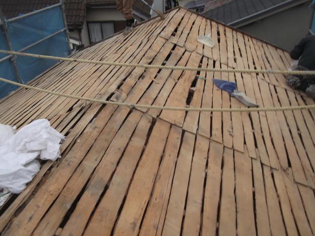 既存屋根瓦の撤去DSCF2388