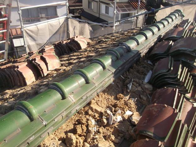 既存瓦の撤去作業DSCF2531