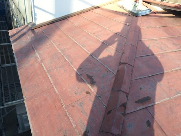 玄関上金属屋根のカバー工法リフォーム施工前1453461183633