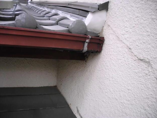 雨漏り対策修理ビフォー雨樋DSCI0903