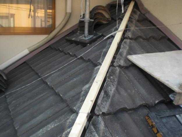 雨漏り対策修理工事中CIMG2217