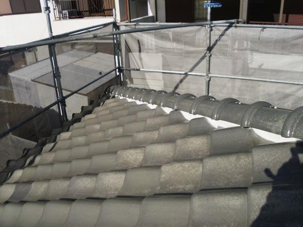 雨漏り対策修理漆喰部ビフォーDSCI0971
