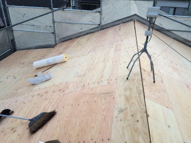 屋根のリフォーム下地補強等作業1450403143417
