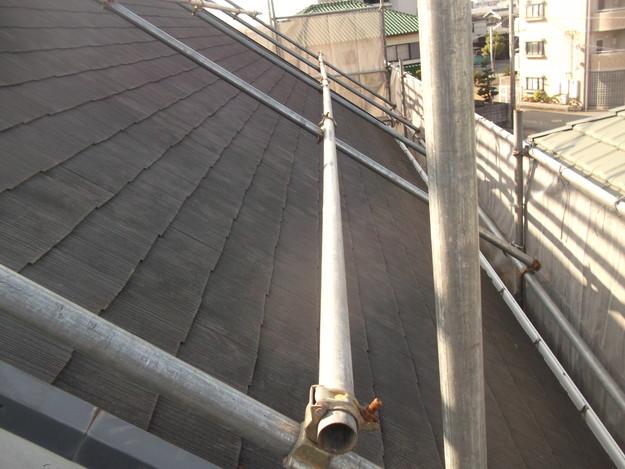 屋根のリフォーム施工前の様子DSCF2399