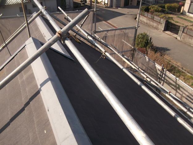 屋根のリフォーム施工前の様子DSCF2403