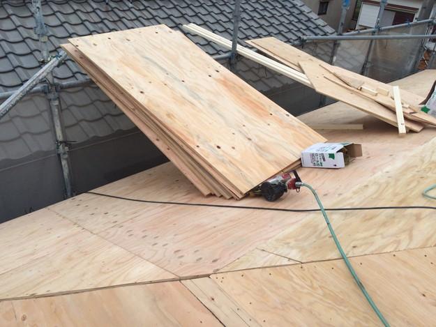 屋根の下地土台補強工事1449367314769