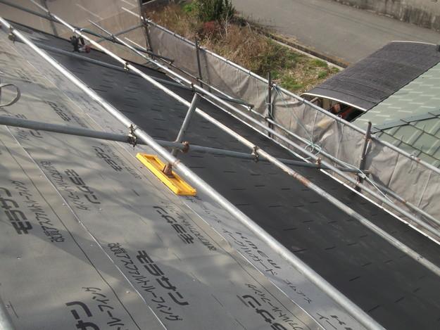 屋根リフォーム施工中DSCF2408