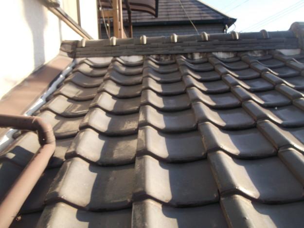 屋根漆喰工事ビフォーDSCF2325