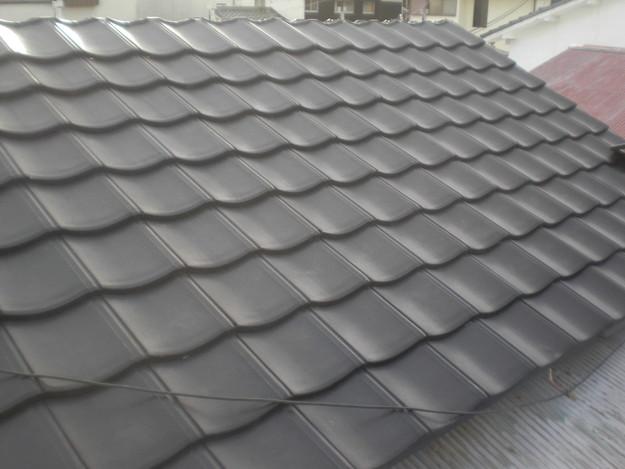 屋根葺き替えリフォーム工事新設瓦敷設から完成までCIMG2184