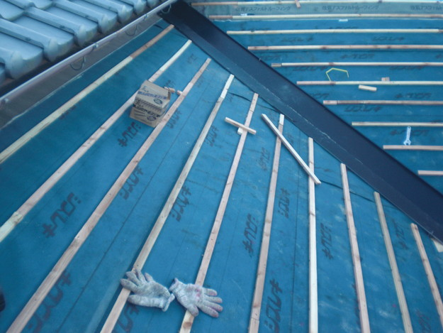 屋根防水シート敷設CIMG2077
