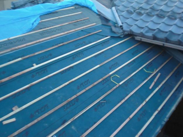 屋根防水シート敷設CIMG2078