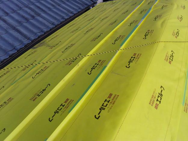 屋根防水シート敷設DSCI0620