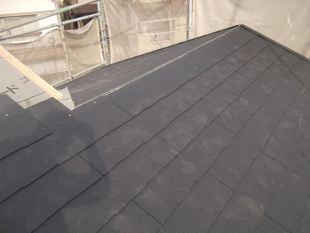 新しいカラーベスト屋根材敷設リフォーム完了までDSCF2571