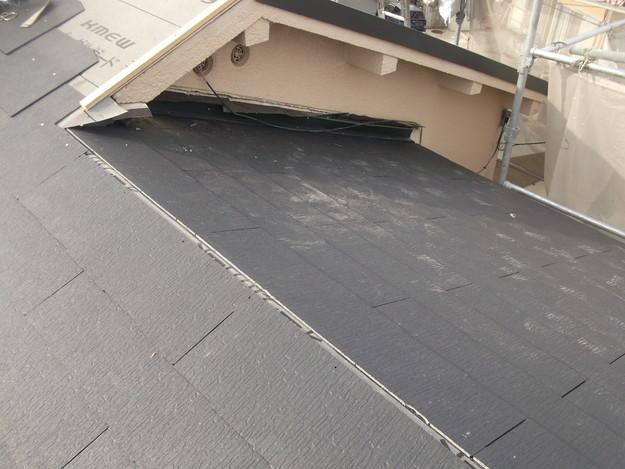 新しいカラーベスト屋根材敷設リフォーム完了までDSCF2572