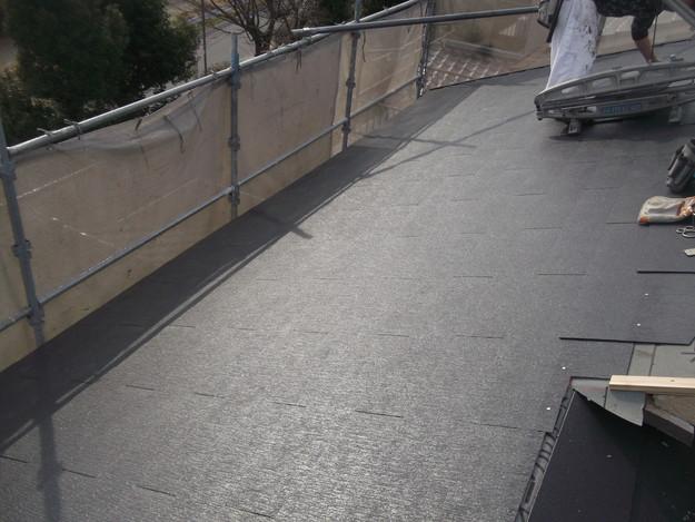 新しいカラーベスト屋根材敷設リフォーム完了までDSCF2573