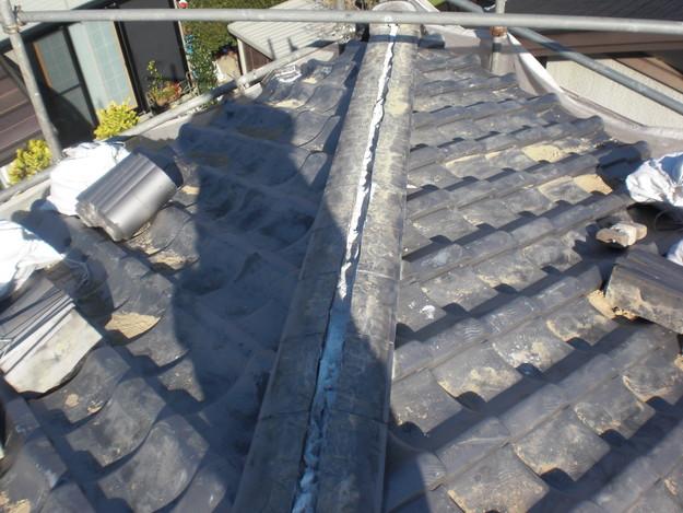 施工中の様子和瓦棟部雨漏り対策修理CIMG2047
