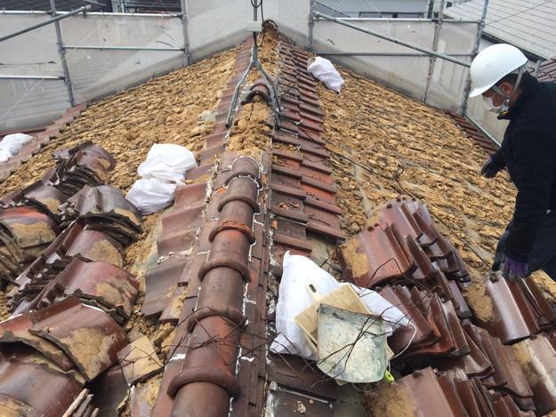 既存屋根撤去作業1450403114171