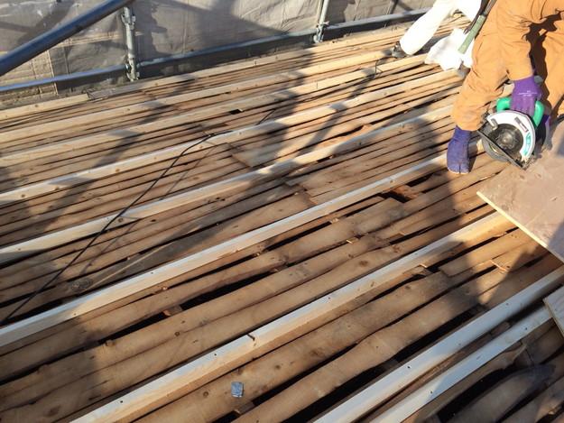 既存屋根撤去後の下地1450403139745