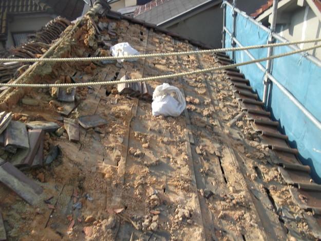 既存屋根瓦の撤去DSCF2387