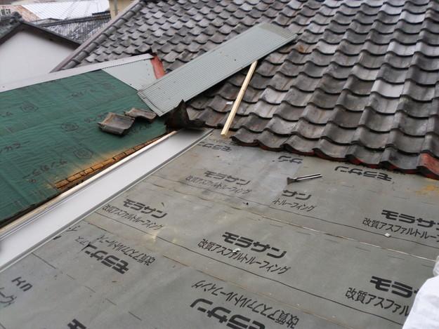 立平葺き屋根工事中の様子DSCI0723