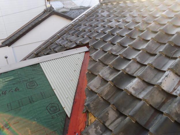 立平葺き屋根工事中の様子DSCI0727
