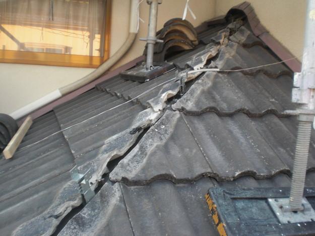 雨漏り対策修理工事中CIMG2214