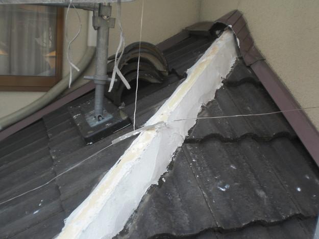 雨漏り対策修理工事中CIMG2220