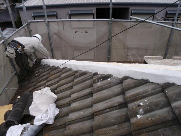雨漏り対策修理工事中DSCI1006
