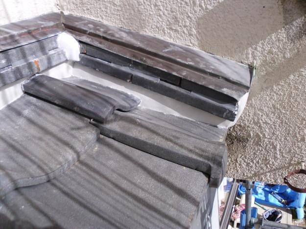 雨漏り対策修理漆喰部ビフォーDSCI0951