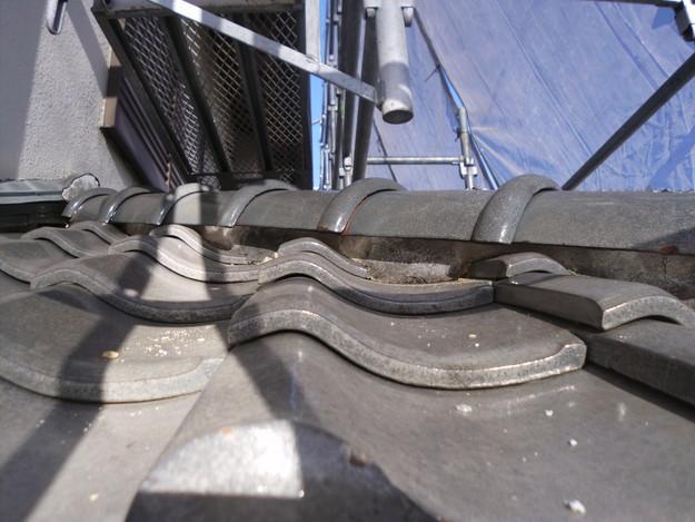 雨漏り対策漆喰修理ビフォーDSCI0855
