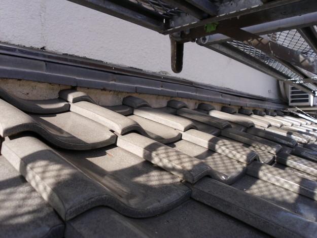 雨漏り対策漆喰修理ビフォーDSCI0861