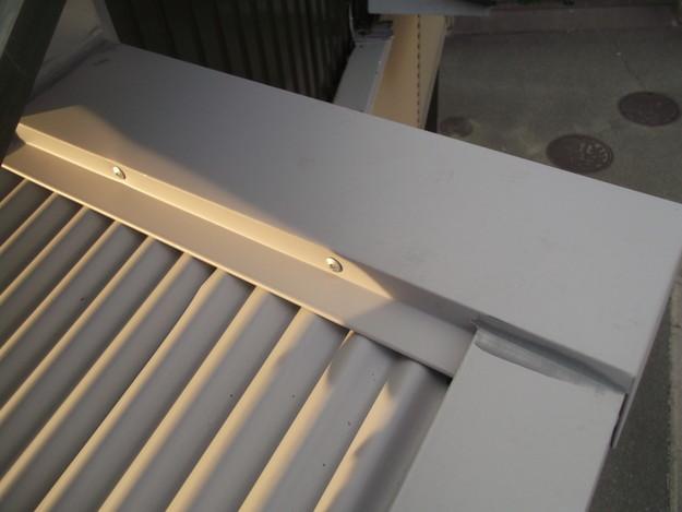 カラートタン波板設置工事中DSCF2721