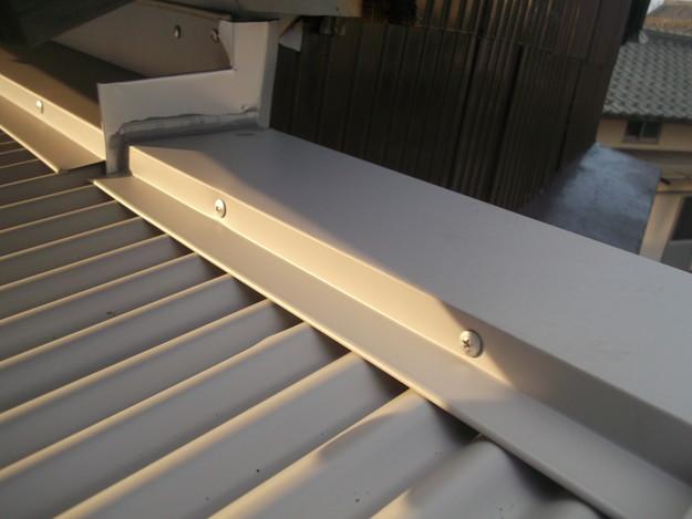 カラートタン波板設置工事中DSCF2722