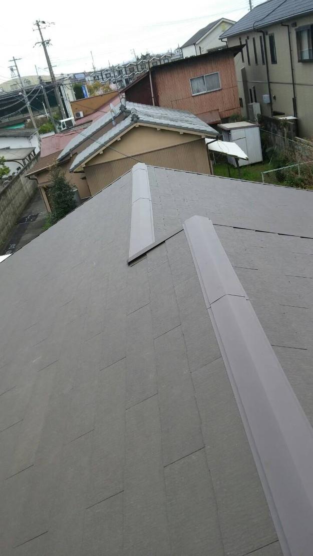 カラーベスト屋根葺き替えリフォーム完了1459808576054