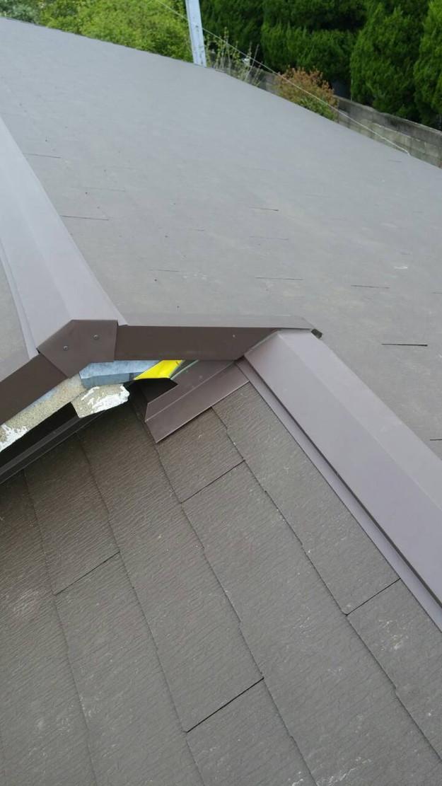 カラーベスト屋根葺き替えリフォーム完了1459808579777