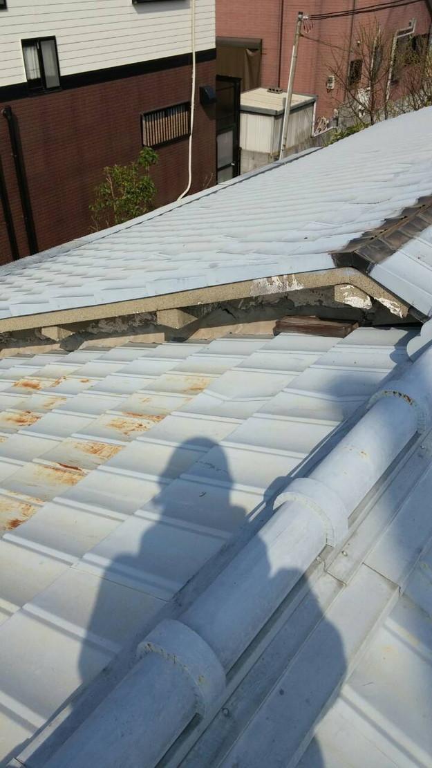 カラーベスト屋根葺き替え施工前1459670888344