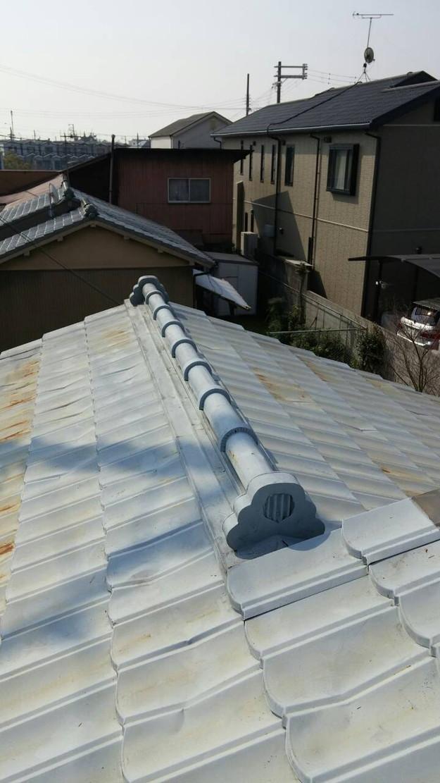 カラーベスト屋根葺き替え施工前1459670891153