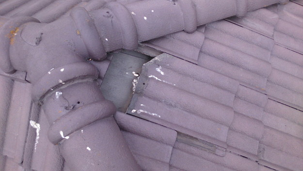 今月の雨漏り点検修理雨漏りの原因箇所DSC_3204