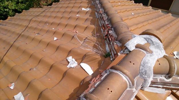 今月の雨漏り点検修理雨漏りの原因箇所DSC_3537