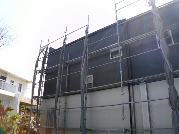 外壁サイディング工事神戸市施工中1460191641773