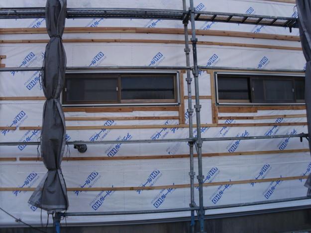 外壁サイディング工事神戸市施工中DSCI1170