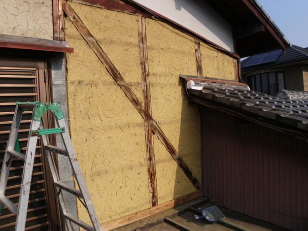 外壁トタンの交換工事施工中DSCI1185