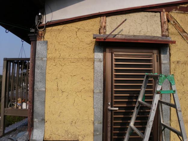 外壁トタンの交換工事施工中DSCI1186