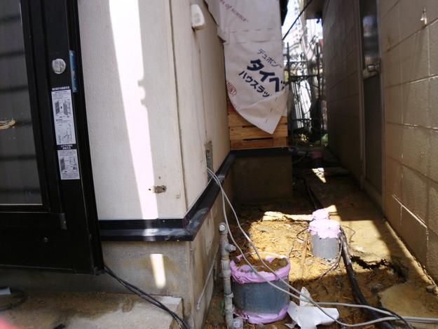 外壁モルタルと土台水切りまわりのリフォームDSCI1373