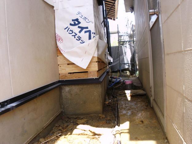 外壁モルタルと土台水切りまわりのリフォームDSCI1375