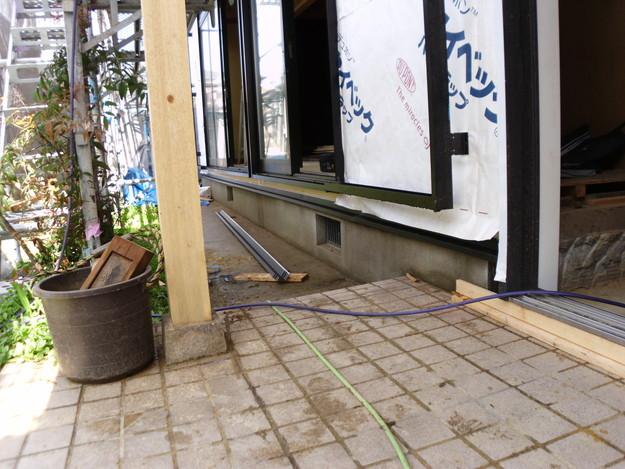 外壁モルタルと土台水切りまわりのリフォームDSCI1377