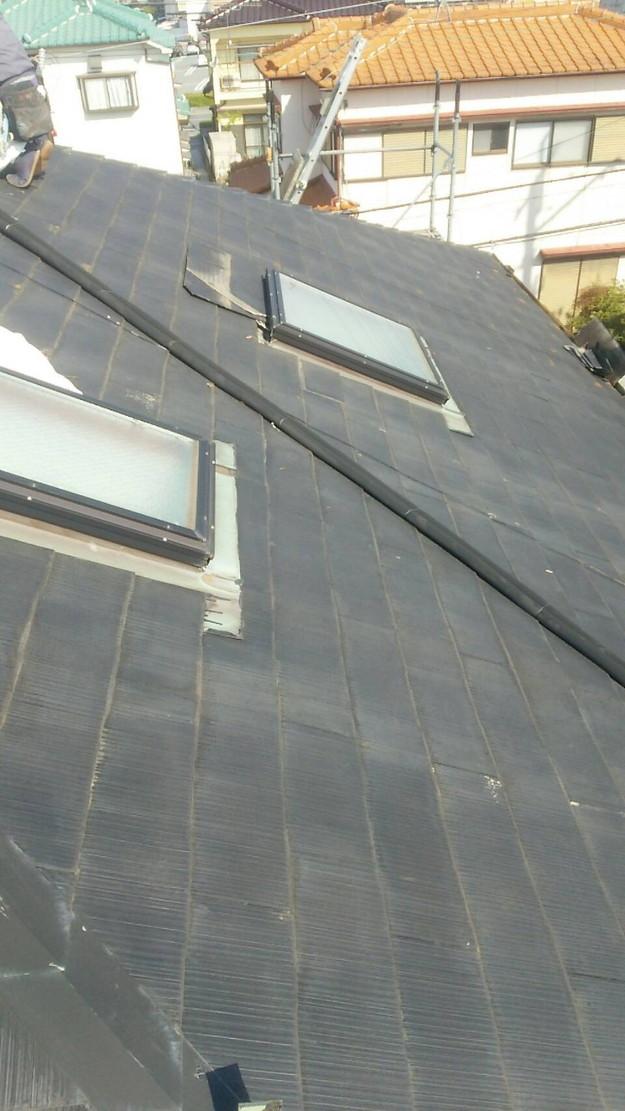 天窓の雨漏り修理工事1460897116615