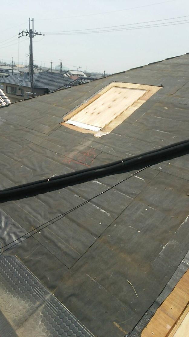 天窓の雨漏り修理工事1460897123414
